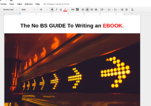 The No BS Guide to Writing & Selling An Ebook