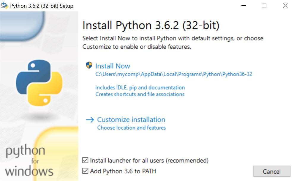 install python windows to path